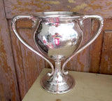 Antique STERLING LOVING CUP Trophy Gorham Sterling Silver Loving Cup Aware Trophy May 1914