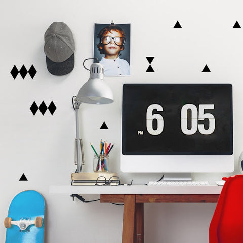 Pöm le Bonhomme Triangles Wall Stickers - Black
