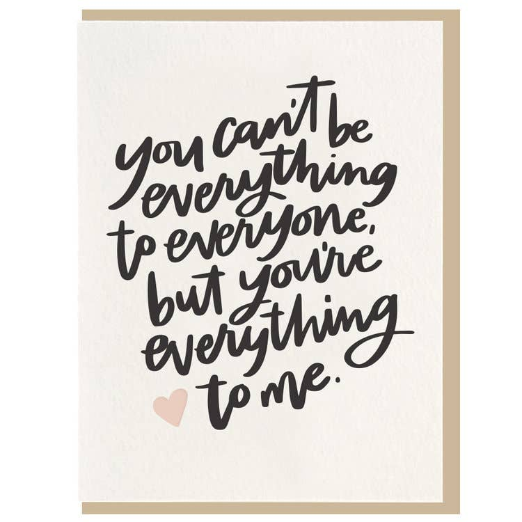 Everything To Me Card
