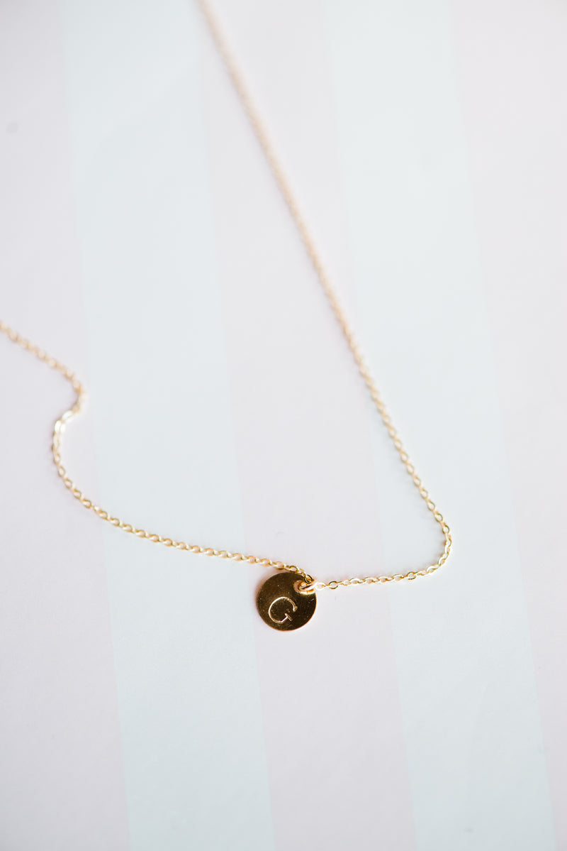 Gold Petite Initial Necklace