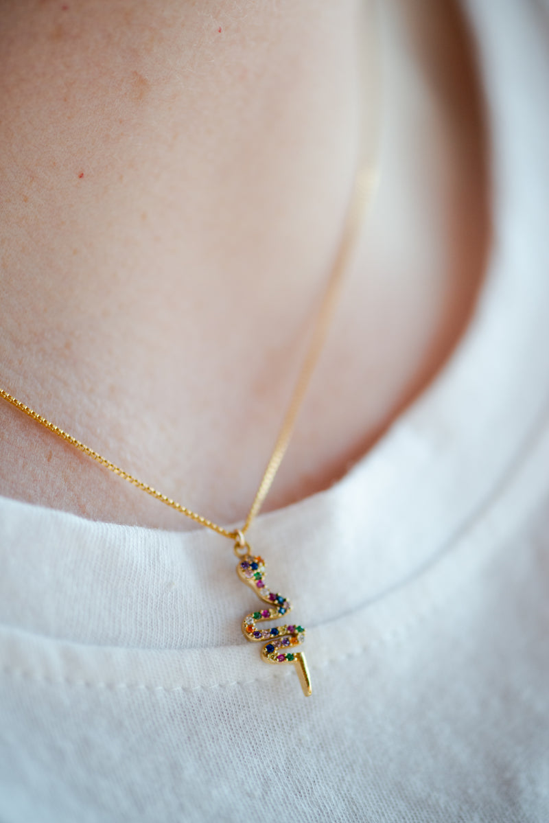 Multicolor Snake Necklace