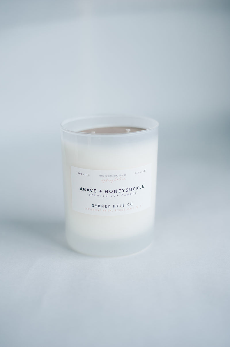 Agave & Honeysuckle Candle