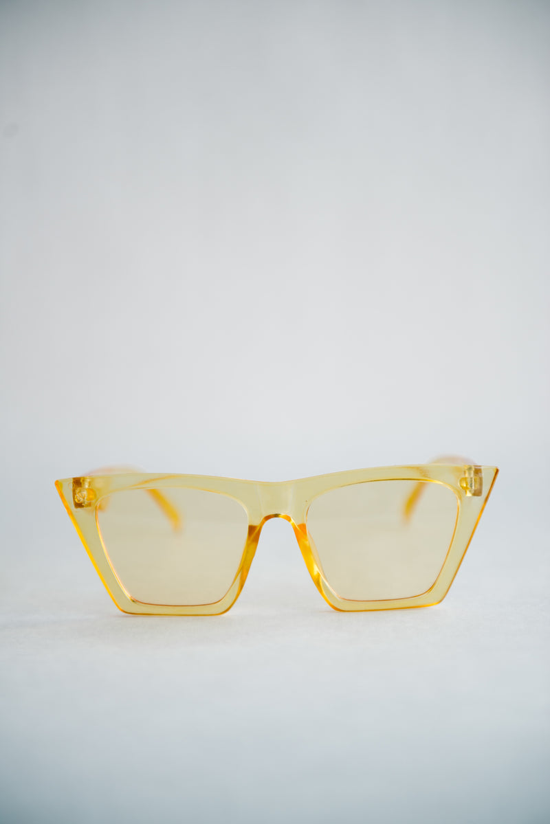 Clear Yellow Sunglasses