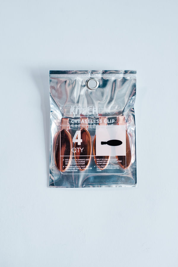 Oval Rose Gold Creaseless Clips