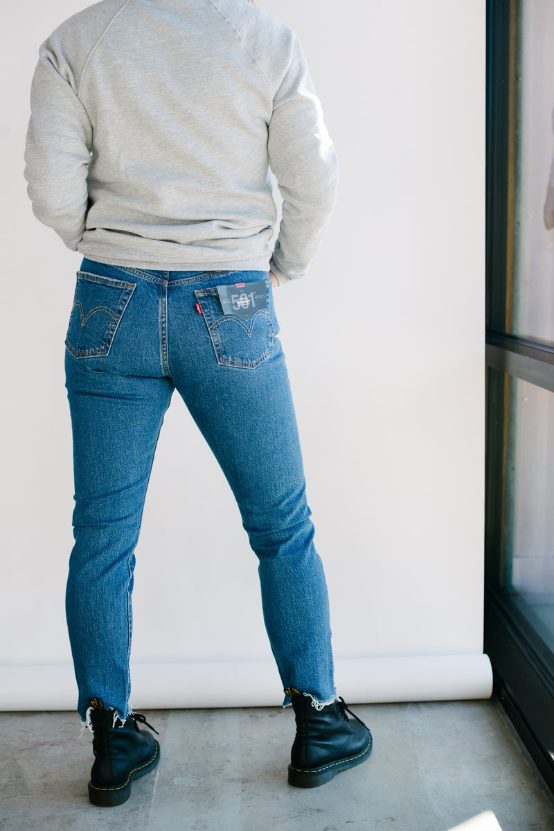 girl from behind in jeans