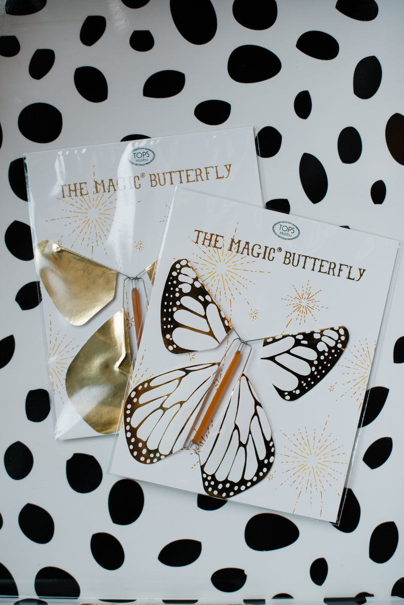 Metallic Flying Magic Butterfly