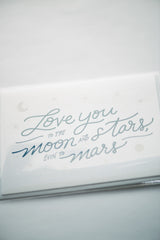 Moon & Stars Letterpress Card