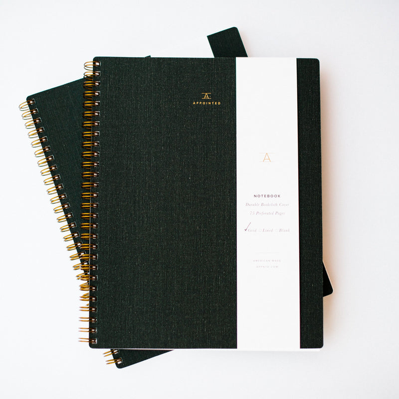 Charcoal Gray Appointed Notebook