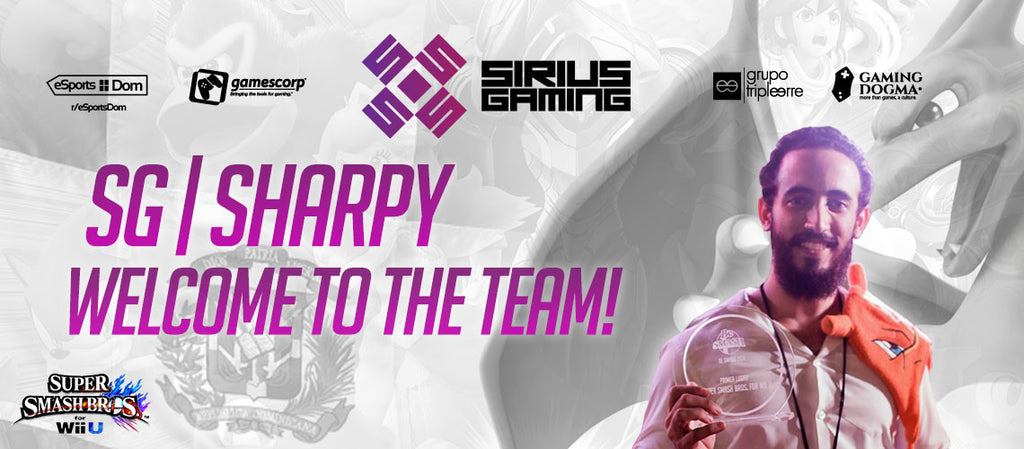 Sharpy se une a nuestro team Sirius Gaming!