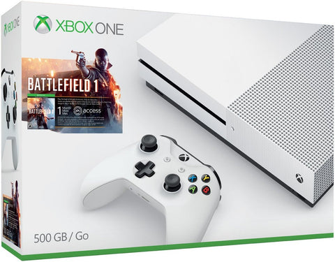 Xbox One S 500GB Console - Battlefield 1 Bundle