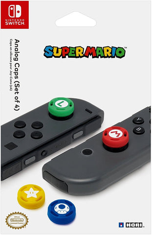 HORI Nintendo Switch Super Mario Analog Caps Officially Licensed By Nintendo - Nintendo Switch