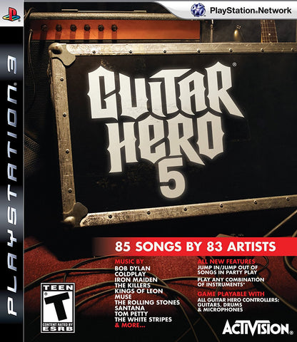Guitar Hero 5 Stand Alone Software - Playstation 3 - Used