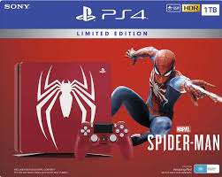 ps4 slim  _ spideman bundle