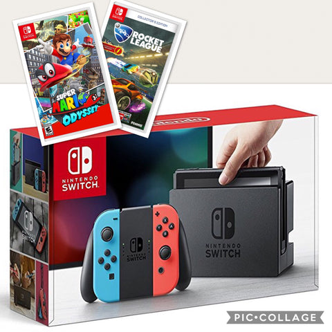 Nintendo Switch Bundle - (Super Mario Odyssey & Rocket League incluidas)