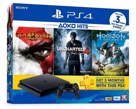 Consola PlayStation 4 Slim 500 GB HITS BUNDLE