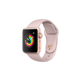 Apple Watch Series 3 38mm Gold Aluminum Case with Pink Sand Sport Band