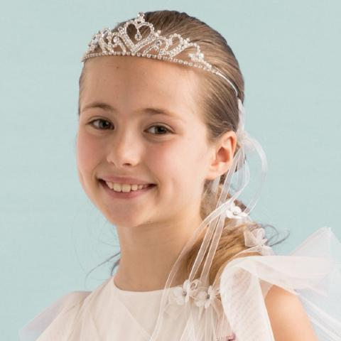 Tiara with ribbons and bows Aletta - Peekaboo Kids