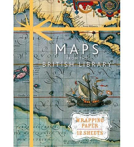 British Library Maps from the British Library (Wrapping Paper Book)