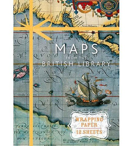 Maps from the British Library (Wrapping Paper Book) - the exhibition catalogue from British Library available to buy at Museum Bookstore
