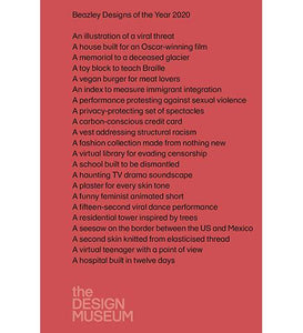 Design Museum Beazley Designs of the Year 2020 exhibition catalogue