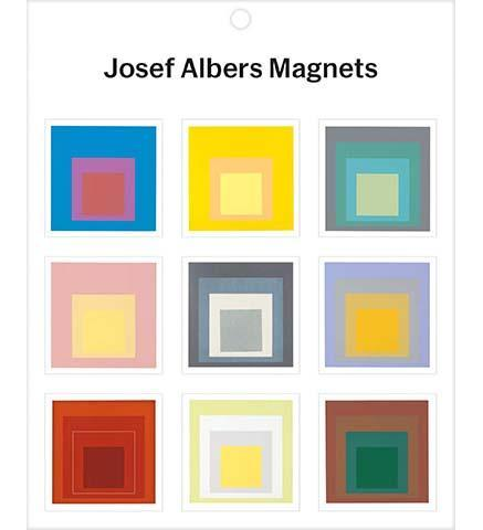 MoMA Josef Albers Magnets - the exhibition catalogue from MoMA available to buy at Museum Bookstore