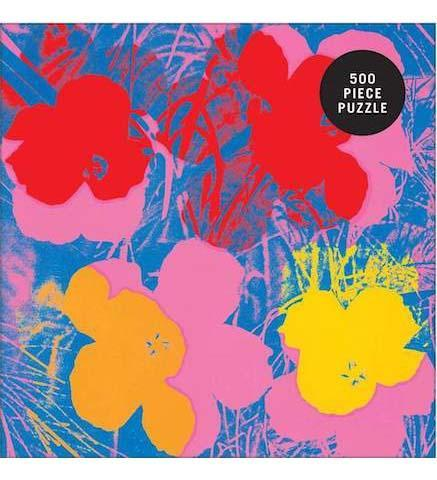 Andy Warhol Flowers 500 Piece Puzzle - the exhibition catalogue from Museum Bookstore available to buy at Museum Bookstore