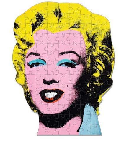 Andy Warhol Mini Shaped Marilyn Puzzle - the exhibition catalogue from Museum Bookstore available to buy at Museum Bookstore