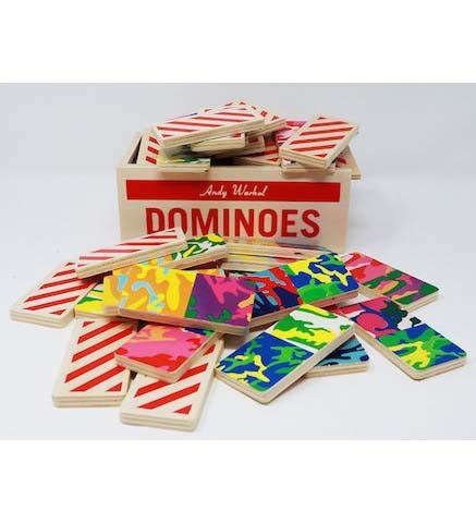 Andy Warhol Wooden Dominoes - the exhibition catalogue from Museum Bookstore available to buy at Museum Bookstore