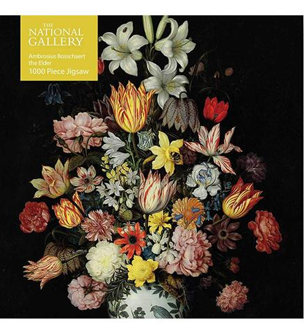 National Gallery Bosschaert the Elder: A Still Life of Flowers : 1000-piece Jigsaw available to buy at Museum Bookstore