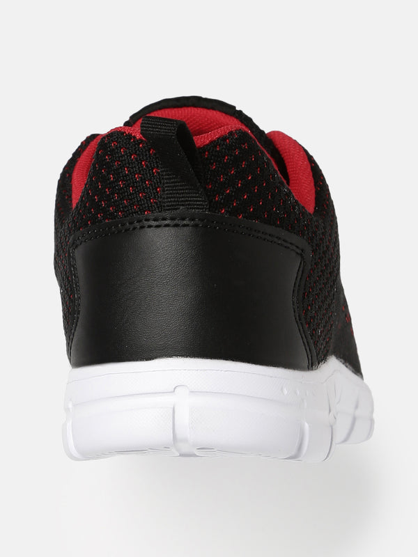 Crew STREET Men Black and Red Running Shoes