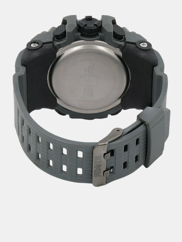 Roadster Unisex Grey Analogue and Digital Watch