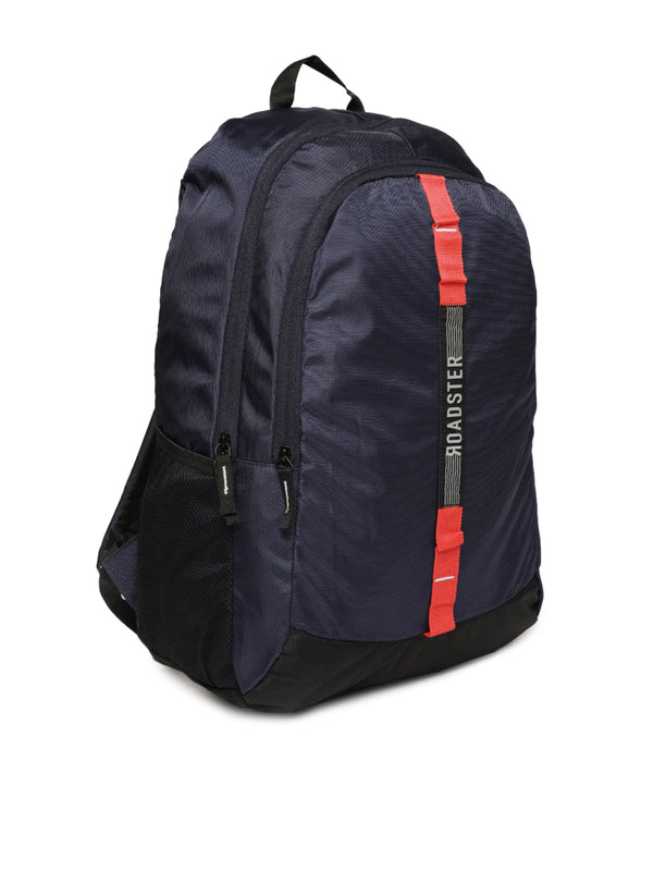 Roadster Unisex Navy Blue Solid Crew Backpack