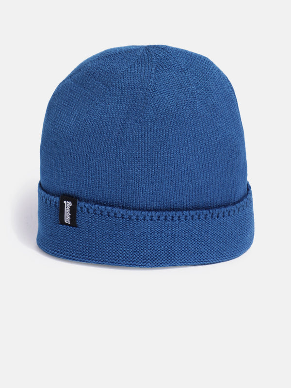 Roadster Unisex Blue Solid Beanie