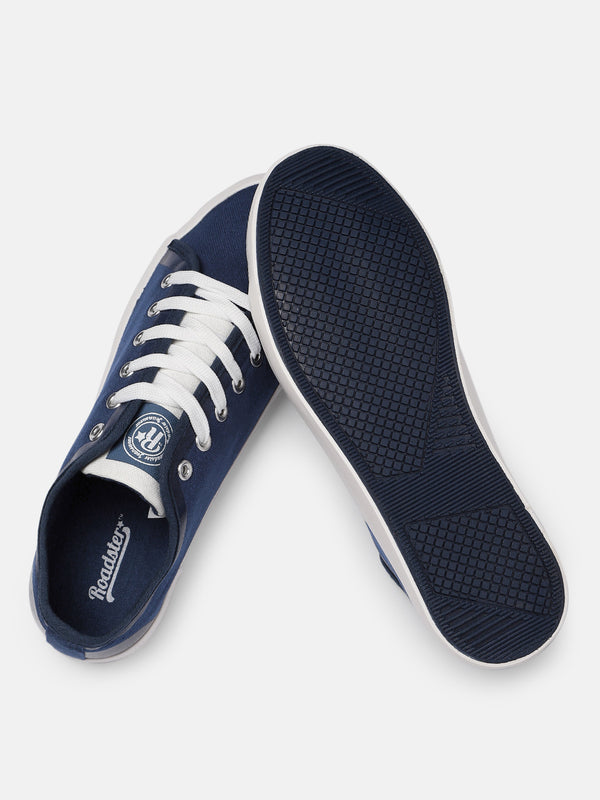 Roadster Men Navy Blue Solid Sneakers