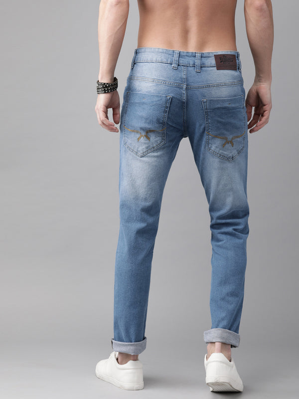 Roadster GreenTurn Men Blue Skinny Fit Mid-Rise Save Water Stretchable Jeans