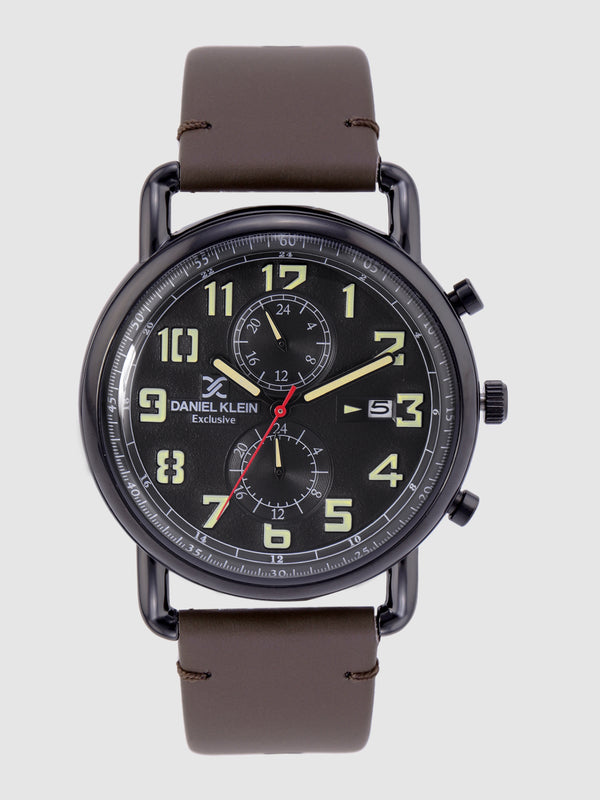 Daniel Klein Exclusive Men Black Chronograph Watch DK12245-2