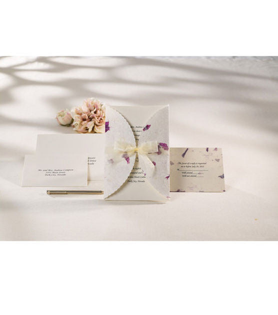 Awesome Wilton Wedding Invitation Kit Pressed Floral Lavender