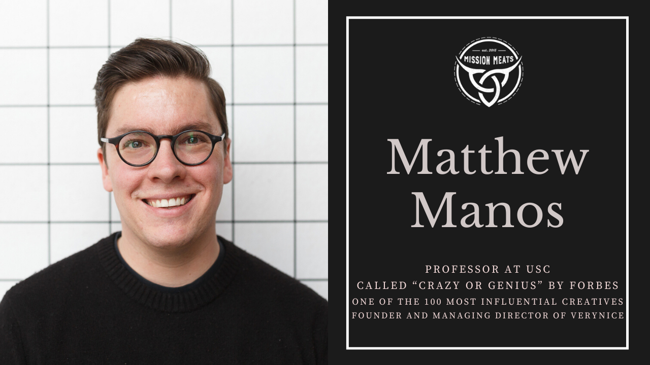 LIVE YOUR MISSION | #014: Creative Problem Solving with Matthew Manos, founder of verynice