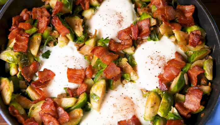 Easy keto-approved brussels sprouts hash for a low carb diet