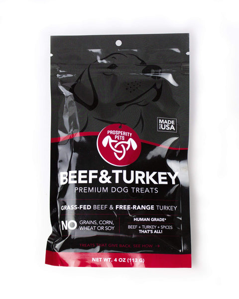 Mission Meats Prosperity Pets Turkey & Beef Dog Treats