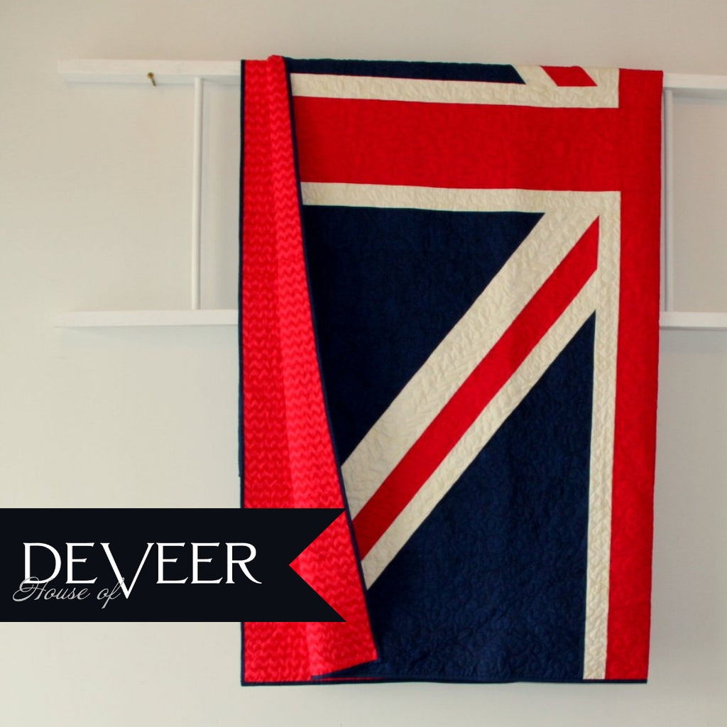 RESERVED British Flag Queen Size quilt