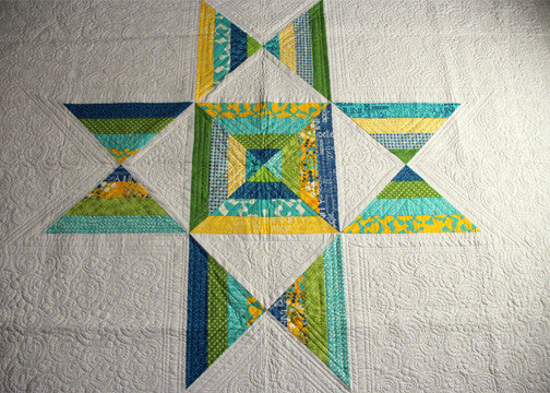Urban Ohio twin size quilt in lush green
