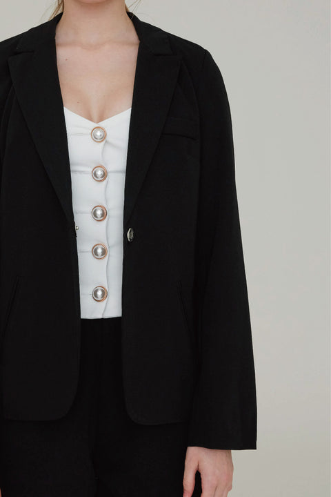 Love at first sight blazer in black