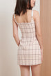 Times Square plaid dress in pink