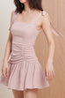Right on time chiffon dress in pink