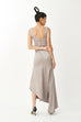 I'm into you side split silky gown in grey