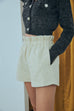 (Pre-Order) Light up the sky tweed shorts with sequin in beige