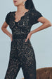 Get it right lace jumpsuits in black
