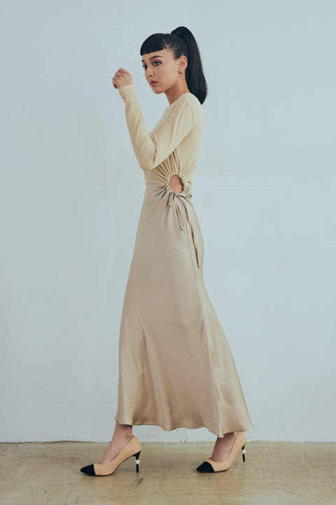 (Pre-Order) Life is a party maxi dress in beige