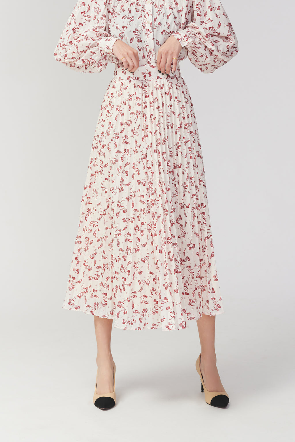 Wonder around floral chiffon skirt